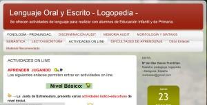 LENGUAJE ORAL Y ESCRITO - LOGOPEDIA