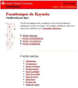 PASATIEMPOS DE RAYUELA.