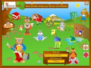 En el bosque de las actividades los niños y niñas podrán divertirse y aprender trabajando contenidos relacionados con las áreas de lengua, matemáticas y conocimiento del medio.