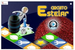 Juego similar al trivial, pero con preguntas del área de Lengua, Matemáticas e Inglés.